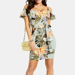 Guess tropical vacation cocktail dress